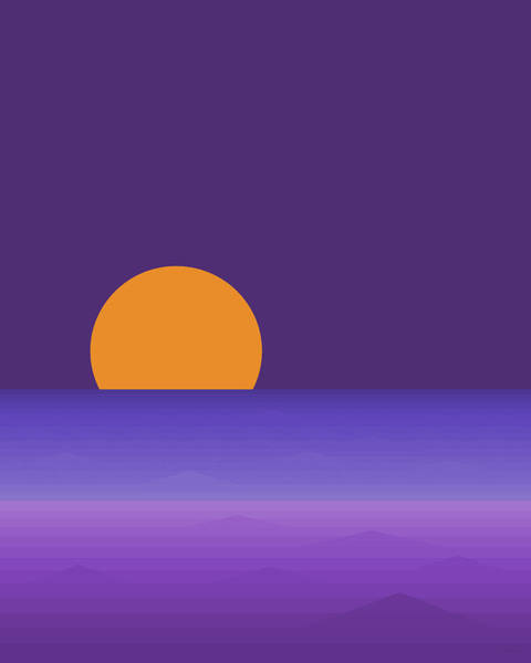 Digital Art - Elements - Lavender Sea - Purple by Val Arie