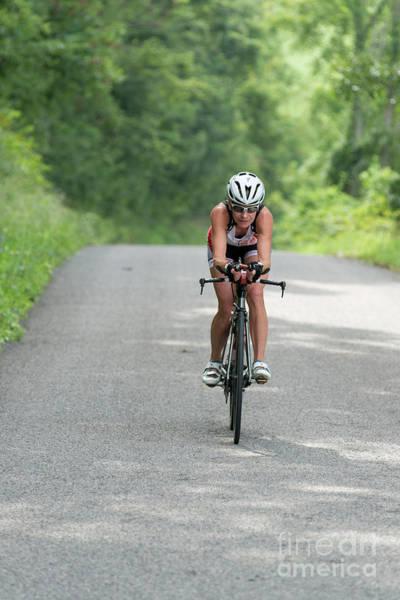 Photograph - Eleonore Cycling Along Road Coasting by Dan Friend