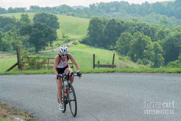 Photograph - Eleonore Cycling Country Road by Dan Friend