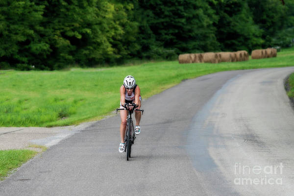 Photograph - Eleonore Cycling In The Country by Dan Friend