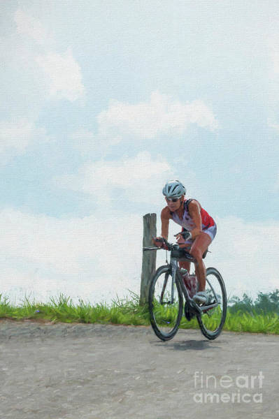 Photograph - Eleonore Cycling Open Country.... Paintography by Dan Friend