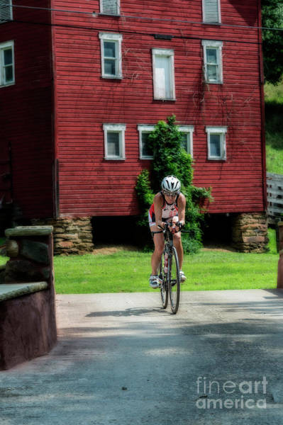 Photograph - Eleonore Cycling Red Barn by Dan Friend