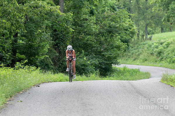 Photograph - Eleonore Cycling Up A Hill by Dan Friend