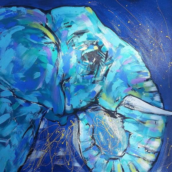 Wall Art - Painting - Elephant #1 by Arrin Burgand