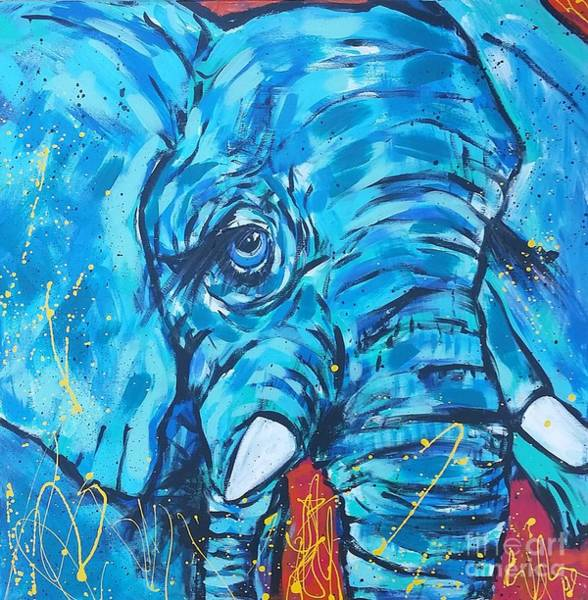 Wall Art - Painting - Elephant #3 by Arrin Burgand