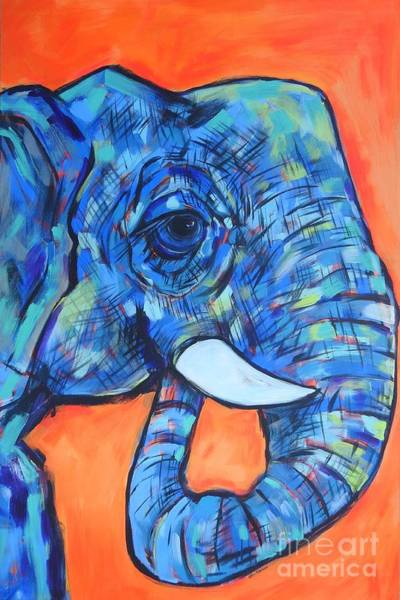 Wall Art - Painting - Elephant# 6 by Arrin Burgand