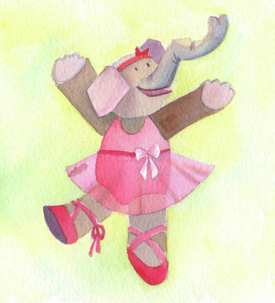 Wall Art - Painting - Elephant Ballet by Kristy Lankford