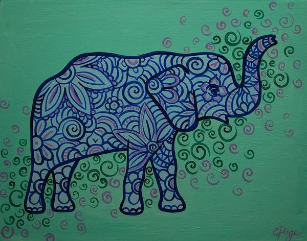 Painting - Elephant Dreams by Emily Page