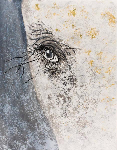Eyeballs Painting - Elephant Eyeball by Tracy May