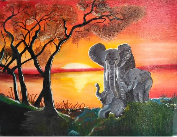 Dgt Wall Art - Painting - Elephant For Good Luck by Anie