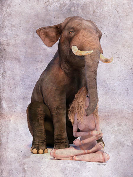 Wall Art - Digital Art - Elephant In The Room by Betsy Knapp