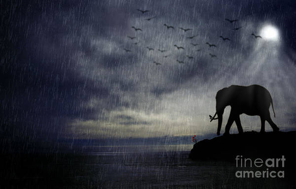 Wild Poppies Digital Art - Elephant Journey by Rpics