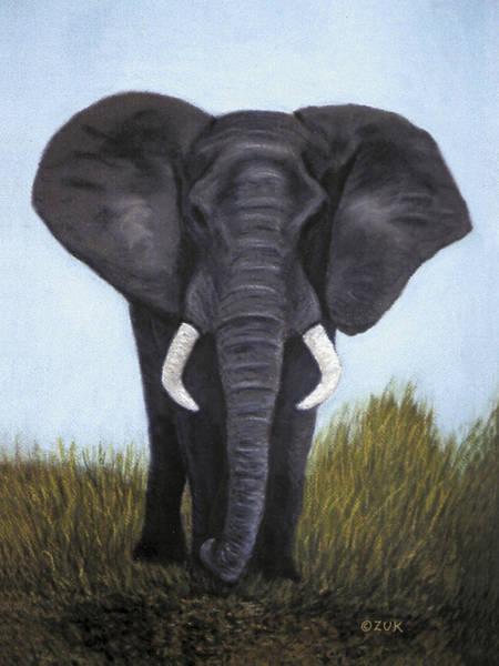 Painting - Elephant by Karen Zuk Rosenblatt