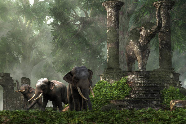 Digital Art - Elephant Kingdom by Daniel Eskridge