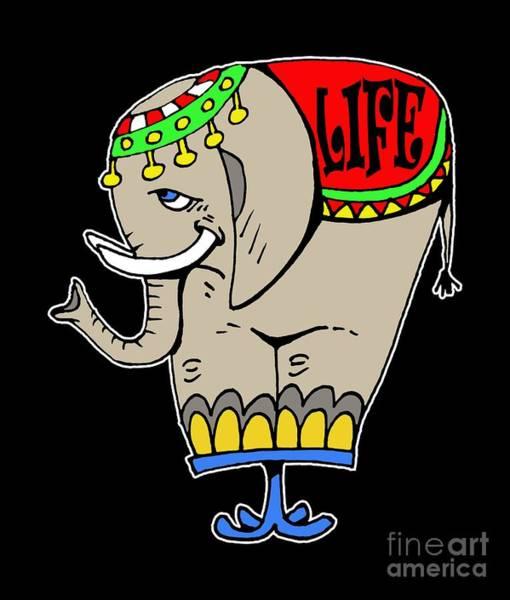 Elephant Life  Art Print