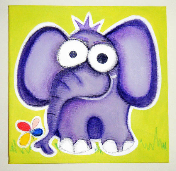 Morea Wall Art - Painting - eLePHANT by Mara Morea