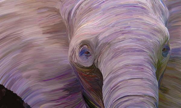 Digital Art - Elephant by Matt Lindley
