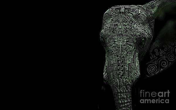 Pyrography Wall Art - Digital Art - Elephant Monokrom by Andy Maryanto