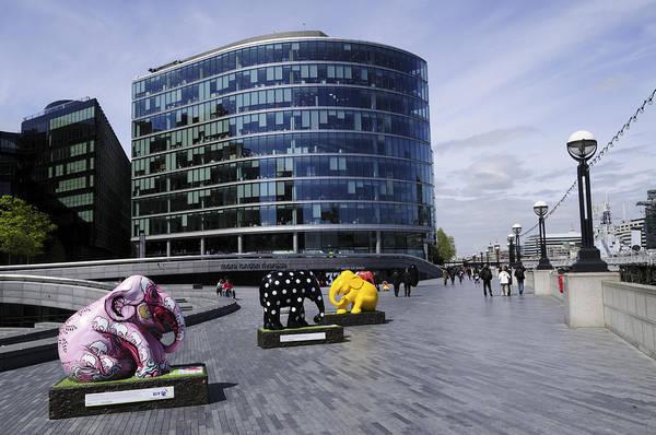 Bankside Photograph - Elephant Parade Sculptures At More London Riverside by Liz Pinchen