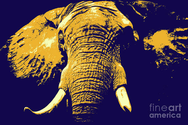 Digital Art - Elephant Popart by Angela Doelling AD DESIGN Photo and PhotoArt