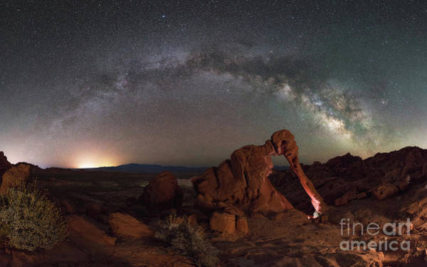 Photograph - Elephant Rock Milky Way Panorama by Michael Ver Sprill