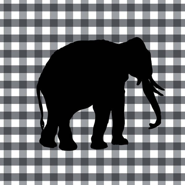 Lake Digital Art - Elephant Silhouette by Linda Woods