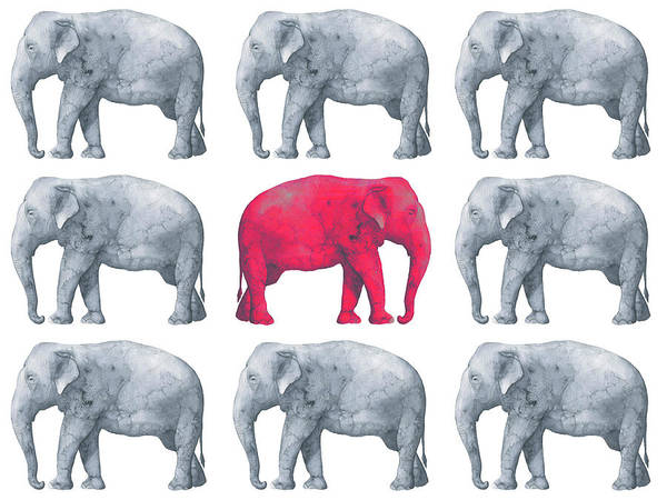 Painting - Elephants by Maria Heyens