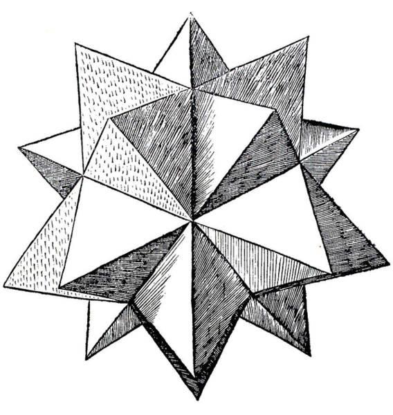Minimal Wall Art - Drawing - Elevated Solid Icosahedron  by Leonardo da Vinci