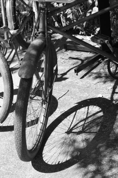 Elgin Photograph - Elgin Bicycle Shadow by Lauri Novak