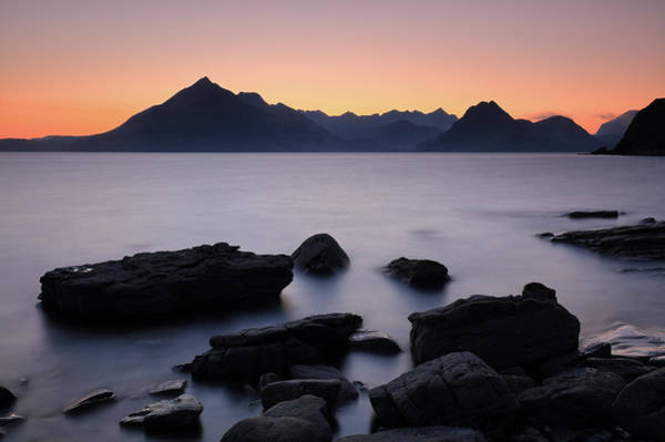 Photograph - Elgol Red Sunset by Grant Glendinning