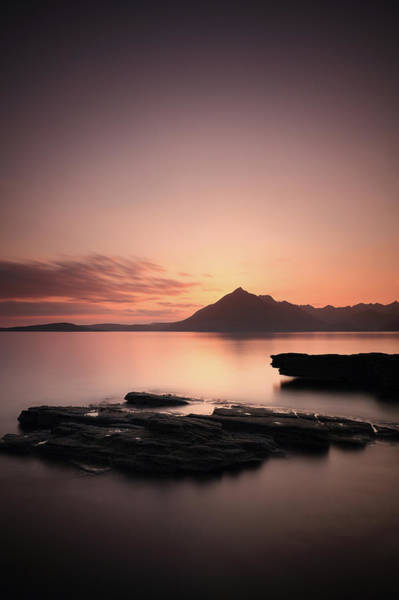 Photograph - Elgol Sunset Afterglow by Grant Glendinning