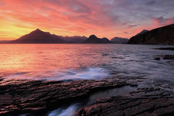Photograph - Elgol Sunset - Isle Of Skye 2 by Grant Glendinning