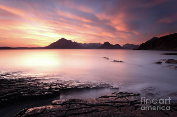 Photograph - Elgol Sunset by Maria Gaellman