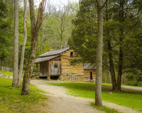 Photograph - Elijah Oliver Cabin by Jack R Perry
