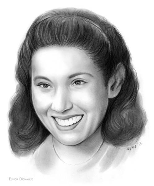 Actress Drawing - Elinor Donahue by Greg Joens