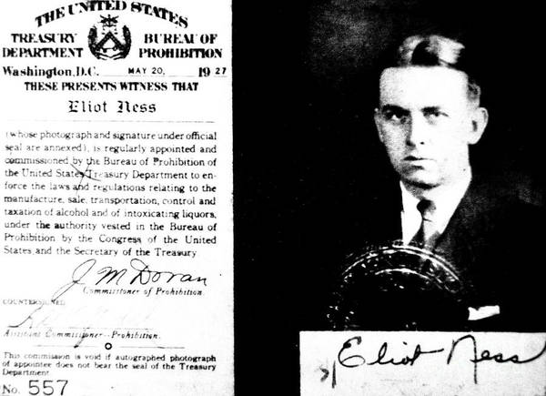 Cops Photograph - Eliot Ness by American School
