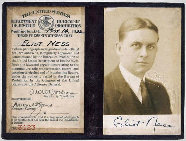 Courage Digital Art - Eliot Ness - Untouchable Chicago Prohibition Agent by Daniel Hagerman