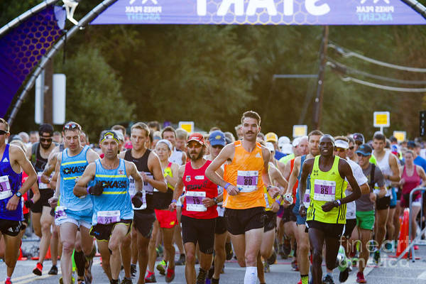 Photograph - Elite Start At The Pikes Peak Marathon And Ascent by Steve Krull
