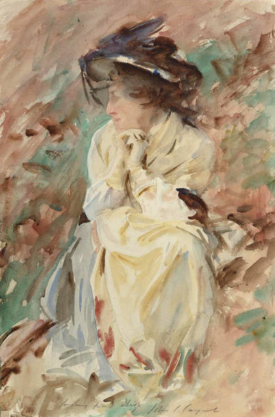 Impressionistic Drawing - Eliza by John Singer Sargent