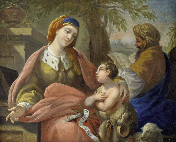 Painting - Elizabeth And John With Zacharias by Louis-Jean-Francois Lagrenee