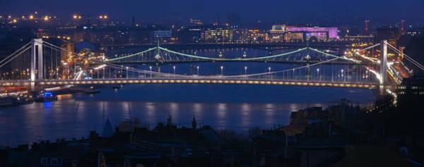 Photograph - Elizabeth And Liberty Bridges Budapest by Joan Carroll