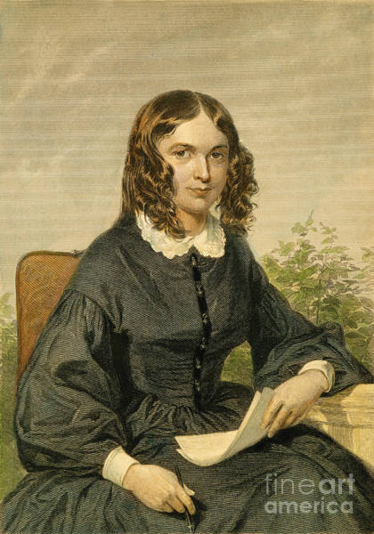 Barrett Photograph - Elizabeth Barrett Browning by Granger