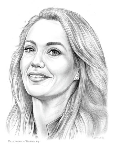 Actress Drawing - Elizabeth Berkley by Greg Joens