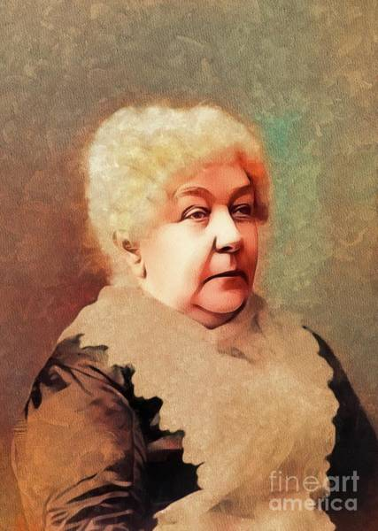 Equal Rights Wall Art - Painting - Elizabeth Cady Stanton, Suffragette by Mary Bassett