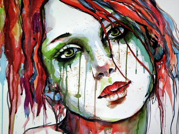 Mood Painting - Elizabeth Cd by Kovacs Anna Brigitta