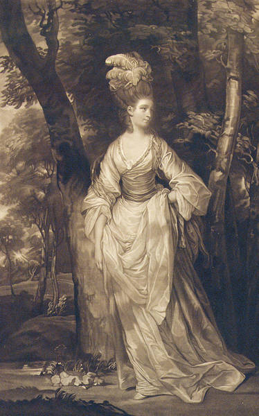 Full Length Drawing - Elizabeth Duchess Of Hamilton Brandon And Argyll by John Finlayson