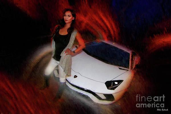 Photograph - Elizabeth Nhem Lamborghini by Blake Richards