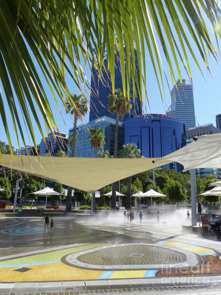 Photograph - Elizabeth Quay - Cooling Off by Phil Banks