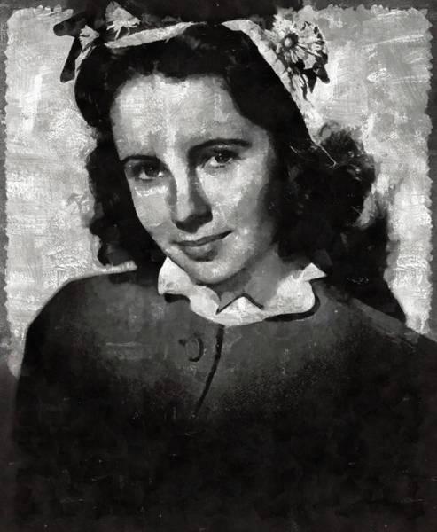 Elizabeth Taylor Painting - Elizabeth Taylor Hollywood Actress by Mary Bassett