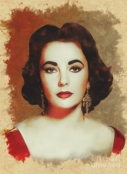 Elizabeth Taylor Painting - Elizabeth Taylor, Movie Legend by Mary Bassett
